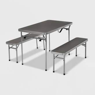 Cosco 3ct Aluminum Patio Folding Table and Bench Set