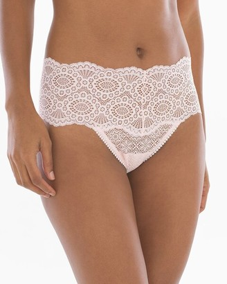 Embraceable Allover Geo Lace Retro Thong