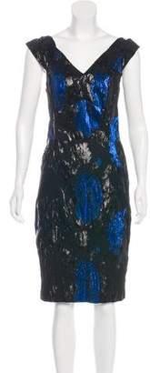Yoana Baraschi Metallic Knee-Length Dress
