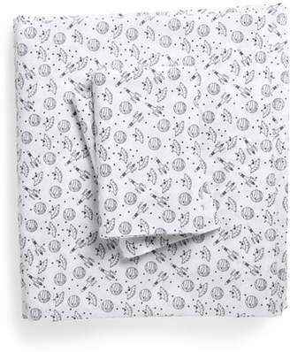 Under One Sky Print Cotton Full Sheet Set