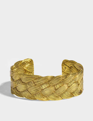 Aurelie Bidermann Braided Cuff in 18K Gold-Plated Brass