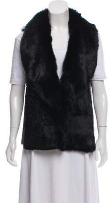 Jocelyn Shearling Leather-Trimmed Vest