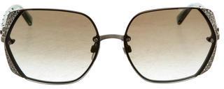Swarovski Cha Cha Frameless Sunglasses $145 thestylecure.com