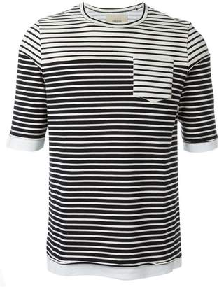 Lardini Wooster + multi stripe pocket detail T-shirt
