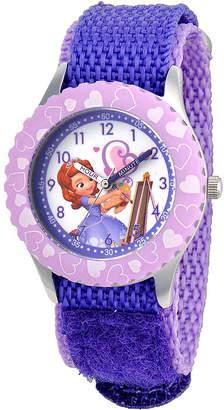 Disney Sofia Kids Time Teacher Purple Fast Strap Watch