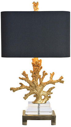 Couture Coral Table Lamp - Gold