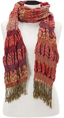 Joe Browns Womens Colourful Woven Scarf Orange Multicoloured One Size