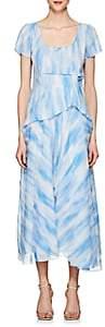 Sies Marjan Women's Gracen Tie-Dyed Chiffon Dress - Milky Blue Tie Dye