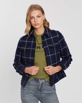 Maison Scotch Bonded Wool Trucker Jacket