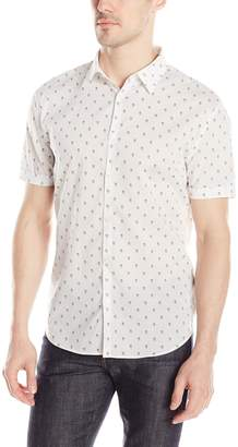 John Varvatos Men's Short Sleeve Skull Print Shirt