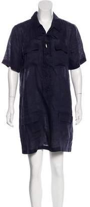 Equipment Linen Shirt Dress