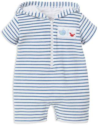 Kissy Kissy Boys' Ocean Treasures Stripe Terry Hooded Beach Romper - Baby