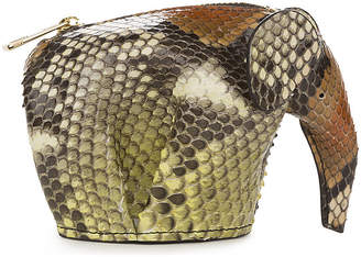 Loewe Elephant python-leather coin purse