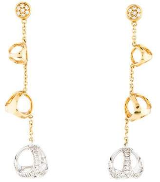 Di Modolo 18K Diamond Triada Drop Earrings