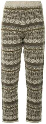 H Beauty&Youth fairisle knitted trousers