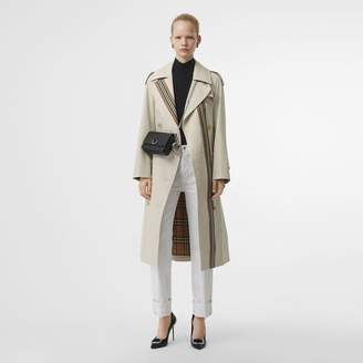 Burberry Striped Ribbon Cotton Gabardine Trench Coat