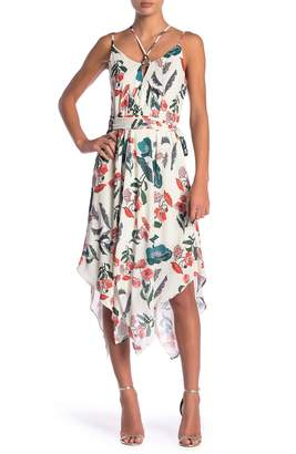 Adelyn Rae Eden Floral Waist Tie Dress