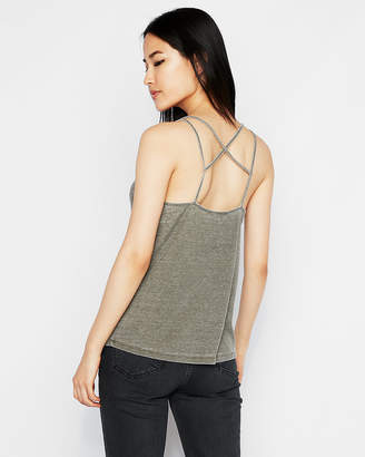 Express One Eleven Ribbed Crisscross Strappy Back Cami