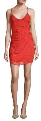 Alice + Olivia Daria Ruched Slip Dress