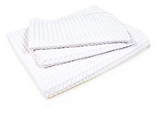 Starfiber Microfiber Waffle Bathroom Towel Kit (White)
