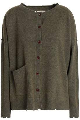 Current/Elliott Distressed Wool And Cashmere-Blend Cardigan
