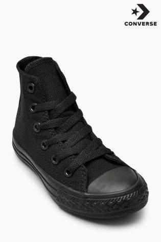 Boys Converse Black Chuck Taylor All Star Hi - Black