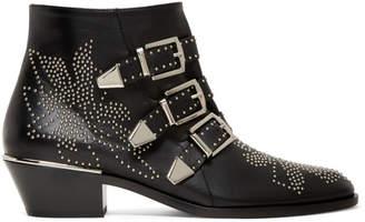 Chloé Black & Silver Susanna Boots