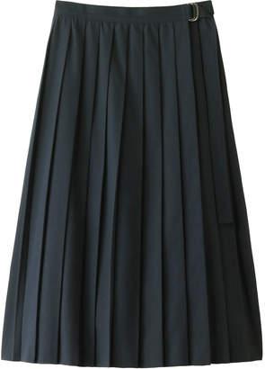Plain People (プレイン ピープル) - プレインピープル コットンポリエステルアムンゼンプリーツ巻きスカート