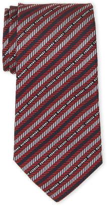 Roberto Cavalli Chevron Stripe Silk Tie