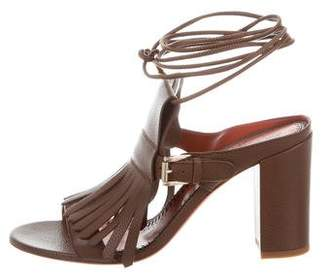 Santoni Kiltie Wrap-Around Sandals