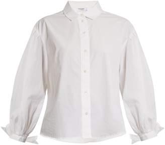 Frame The Tie Cuff cotton-poplin shirt
