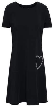 Love Moschino Appliqued Stretch-crepe Mini Dress