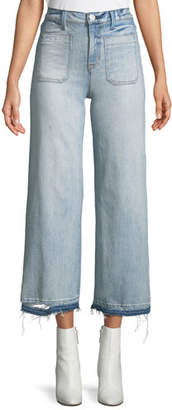 Hudson Holly Cropped Wide-Leg Jeans