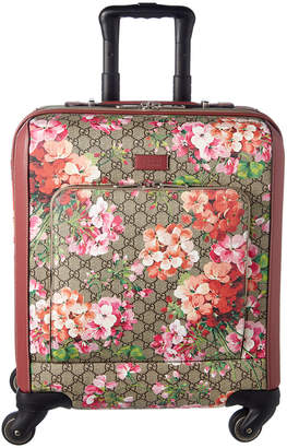Gucci Gg Blooms Canvas & Leather Carry-On Suitcase
