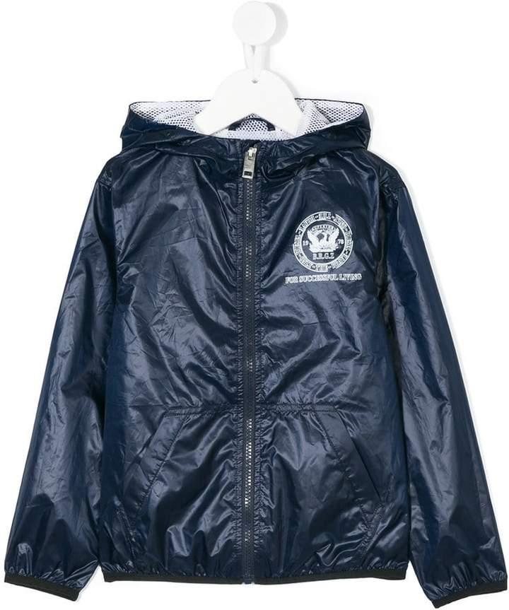 logo crest print jacket