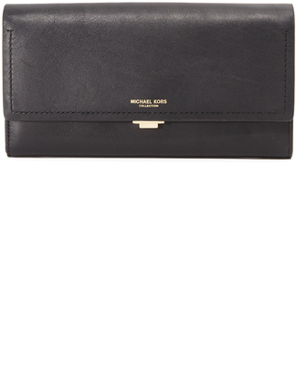 Michael Kors Collection Yasmeen Continental Wallet $420 thestylecure.com