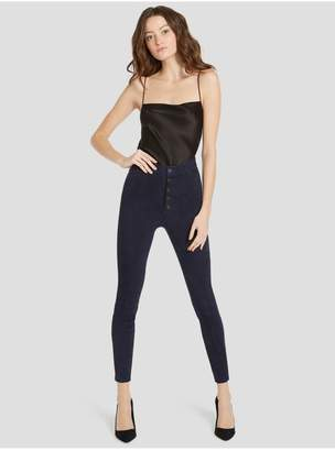 Alice + Olivia Good Mikah Suede High Rise Pant