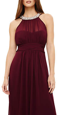 Phase Eight Peyton Embellished Maxi Dress, Berry