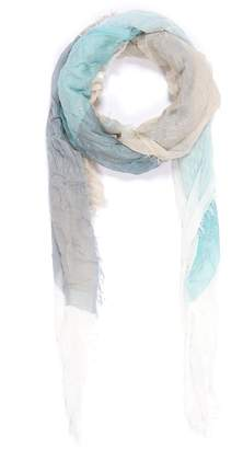 Faliero Sarti 'Minu' colourblock semicircle print modal-cashmere scarf
