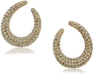 "Nina Pave"" E-Jaelie Hoop Earrings"