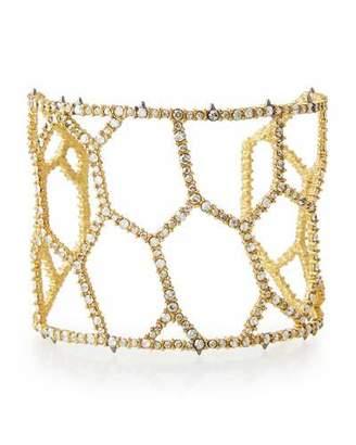 Alexis Bittar Crystal Honeycomb Cuff Bracelet $275 thestylecure.com
