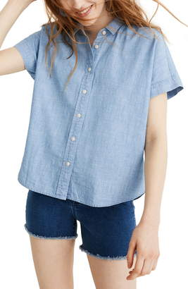 Madewell Cropped Button-Down Chambray Shirt