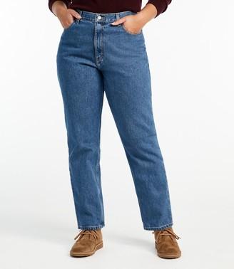 L.L. Bean L.L.Bean Women's Double LA Jeans, Relaxed Fit