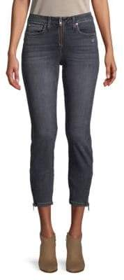 Faded Low-Rise Cropped Jeans