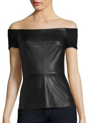 Bailey 44 Glory Box Faux Leather Top $188 thestylecure.com