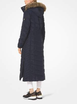 MICHAEL Michael Kors Quilted Down and Faux Fur Parka