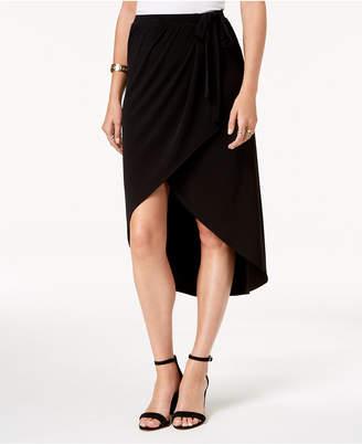 Alfani Faux-Wrap Midi Skirt