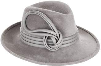 Philip Treacy Leather Band Velour Fedora Hat