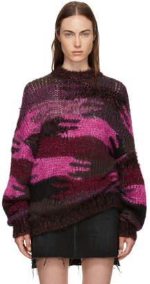 Saint Laurent Multicolor Jacquard Camouflage Sweater