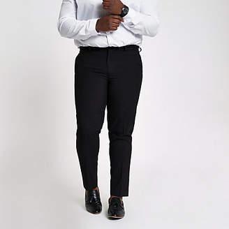 River Island Big and Tall black smart pants